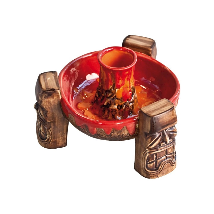 Tiki mug Vulcano in porcellana cl 60