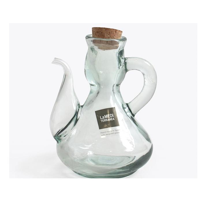 Oliera La Mediterranea in vetro con tappo in sughero cl 25