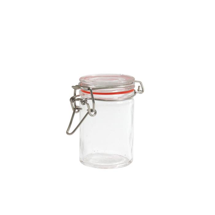 Mini barattolo ermetico in vetro cl 7
