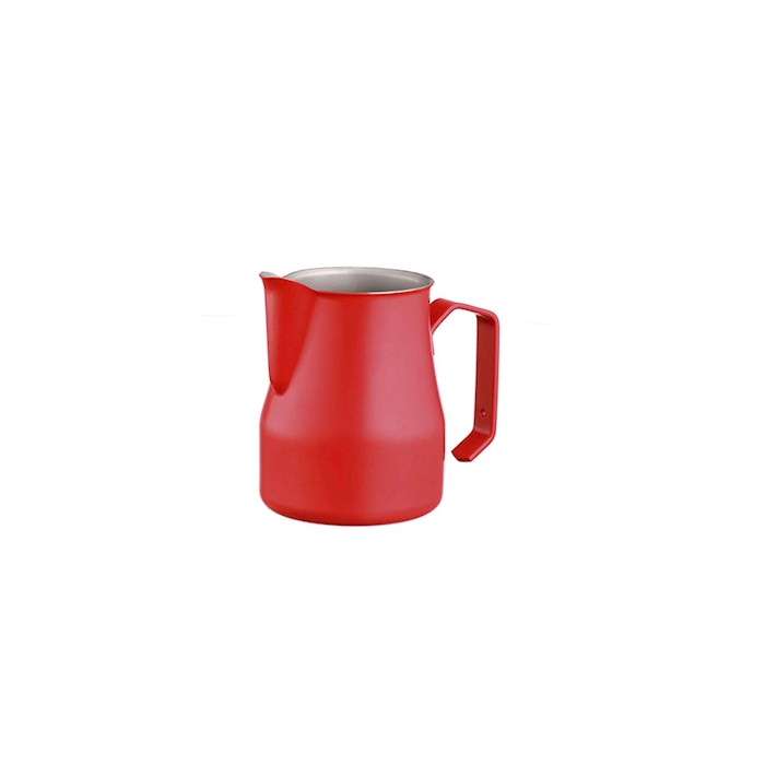 Lattiera Motta in acciaio inox rossa cl 50