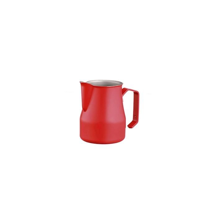Lattiera Motta in acciaio inox rossa cl 35