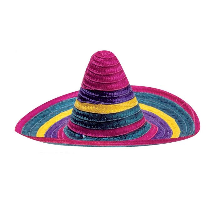 Cappello Sombrero in paglia di colori assortiti