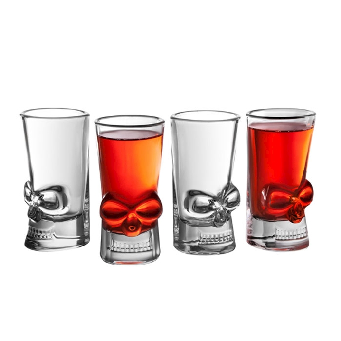 Bicchieri shot Teschio in vetro cl 4,4