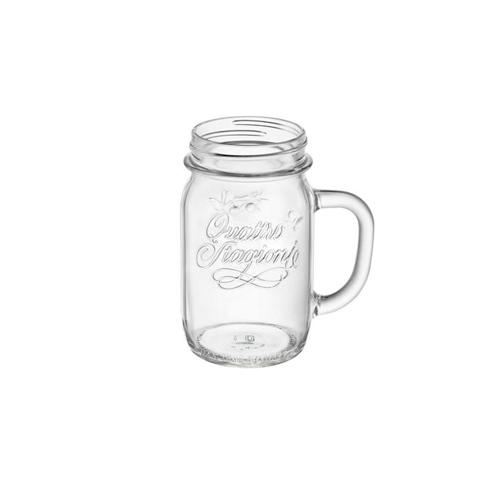 Bicchiere barattolo Quattro Stagioni Bormioli Rocco senza coperchio cl 41,5