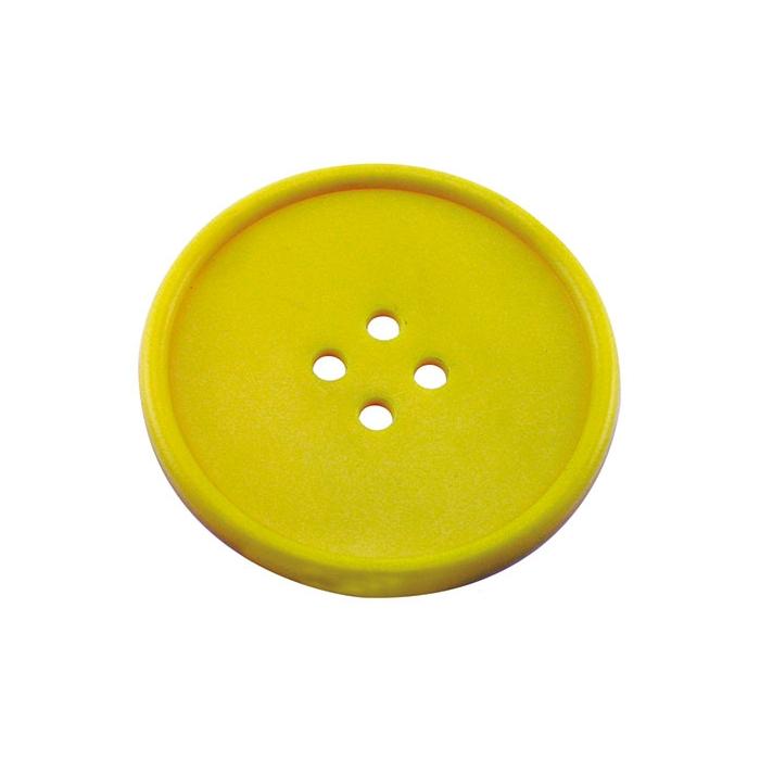Sottobicchieri bottone in gomma gialla cm 10