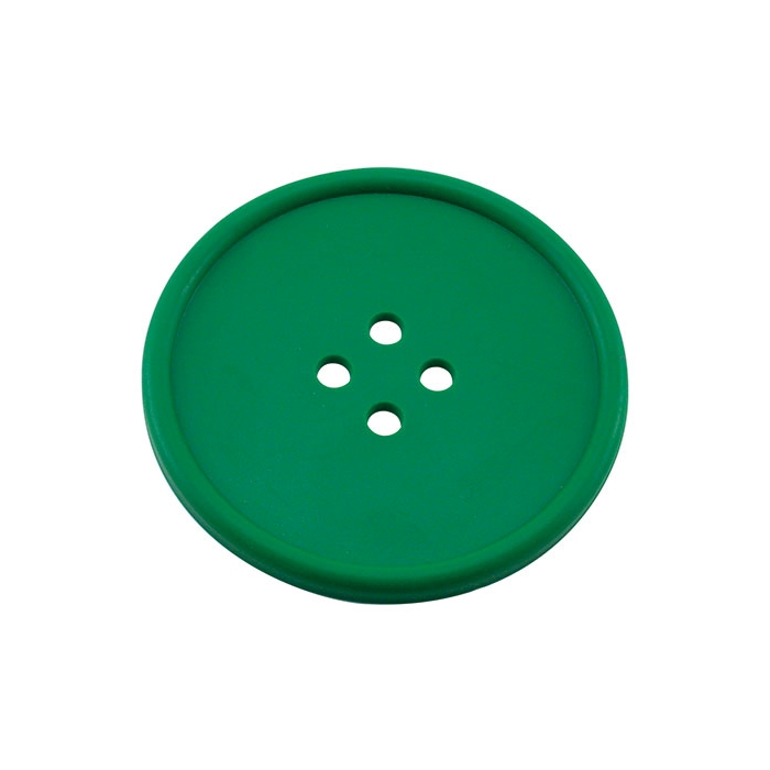 Sottobicchieri bottone in gomma verde cm 10
