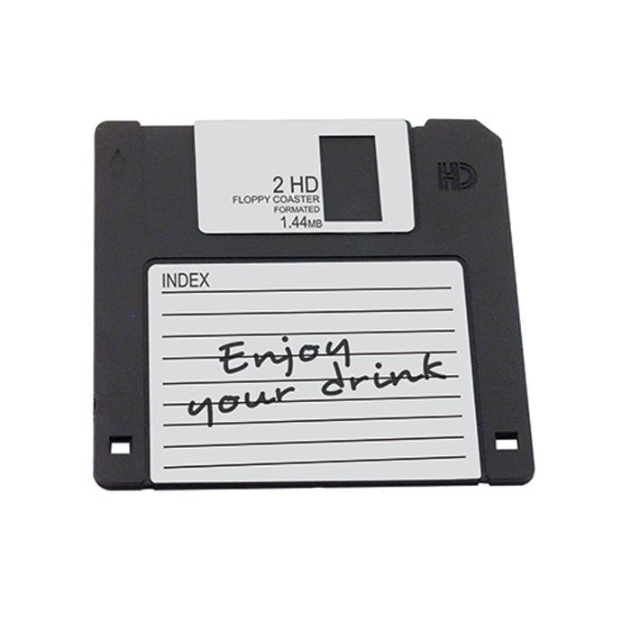 Sottobicchieri Floppy disk in gomma cm 12x12