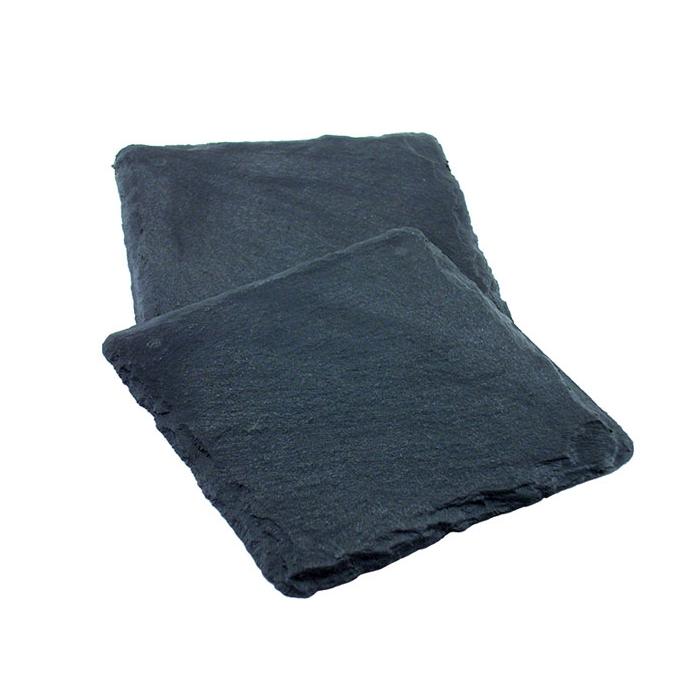 Sottobicchieri Ardesia in plastica nera cm 10x10