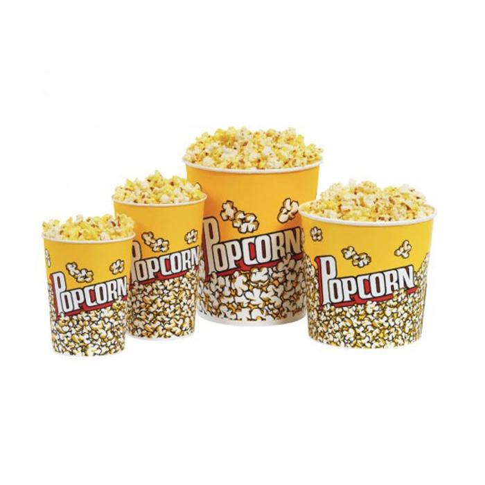 Contenitori Popcorn con decoro in carta cm 19,5x13
