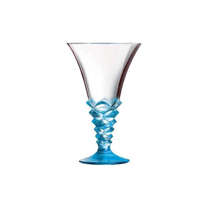 Coppa gelato Palmier in vetro blu cl 37