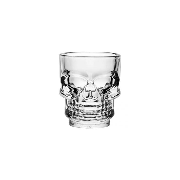 Bicchiere shot Teschio in vetro cl 4,5