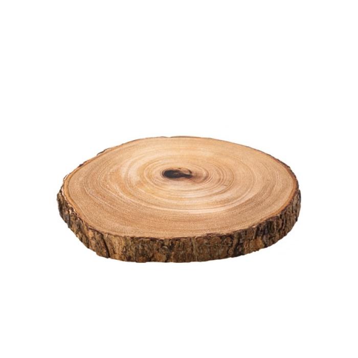 Tagliere corteccia in legno di acacia cm 22