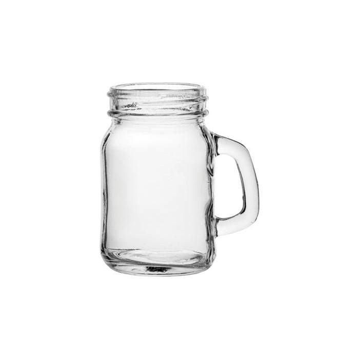Bicchiere barattolo Jar con manico cl 13,5