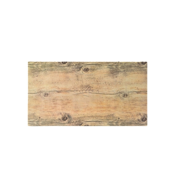 Vassoio effetto legno rettangolare in melamina cm 32,5x17x0,6