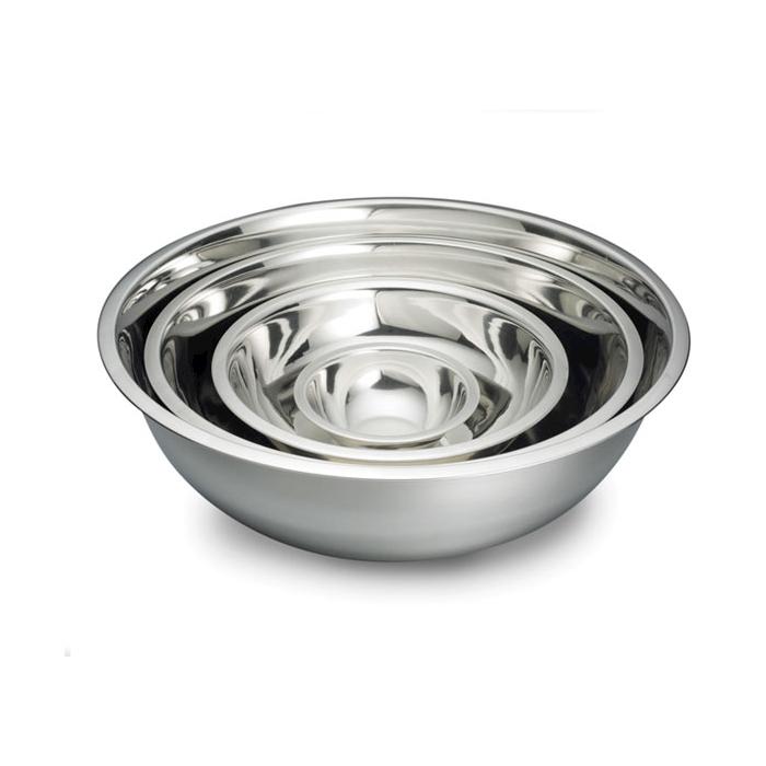 Bowl semisferica in acciaio inox cm 33,5x10,5
