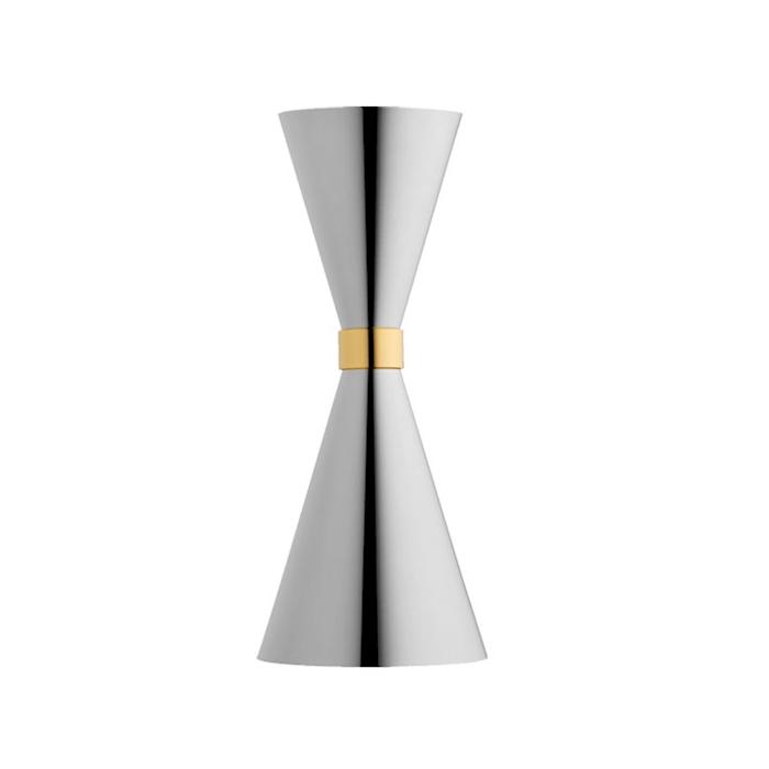 Jigger Mr Slim in acciaio inox con anello dorato cl 3-6