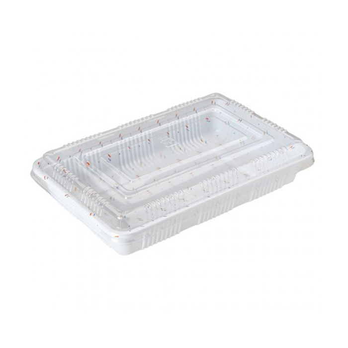Contenitore rettangolare con coperchio in plastica cm 11,7x9x5,5