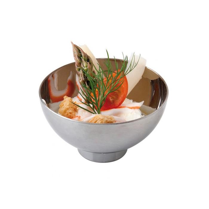 Coppette snack bowl in plastica argento cl 7,2