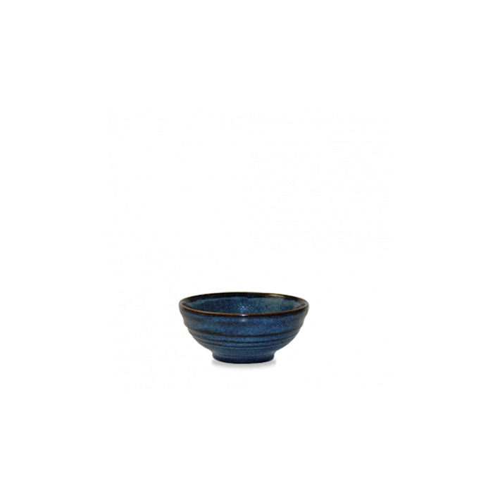 Coppetta Ripple Churchill in ceramica vetrificata blu sapphire cl 17