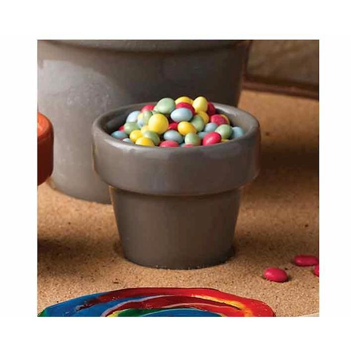 Vasetto Pebble Churchill in ceramica vetrificata grigia cl 5,7