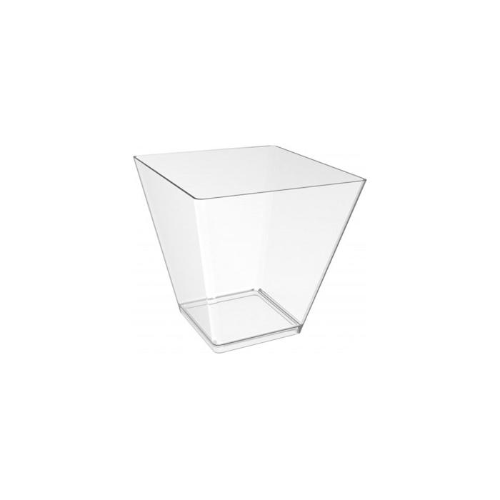 Coppetta prisma in polistirene trasparente cl 9,5