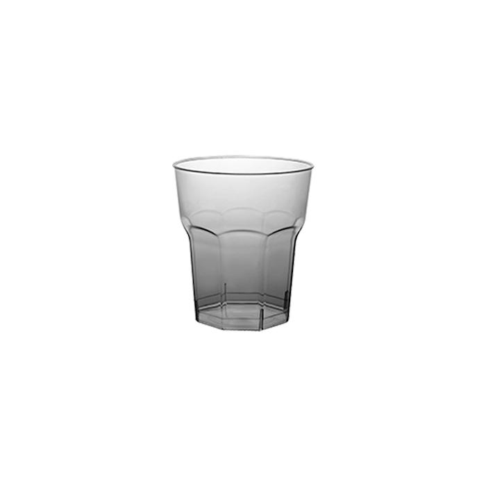 Bicchiere octagonal con tacca in polistirene trasparente cl 5