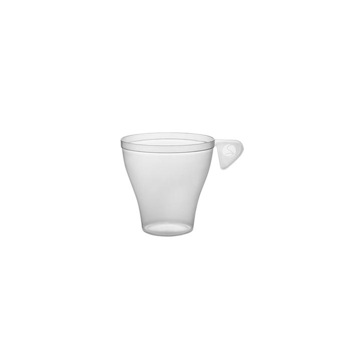 Tazza caffè Moka monouso in plastica trasparente cl 9