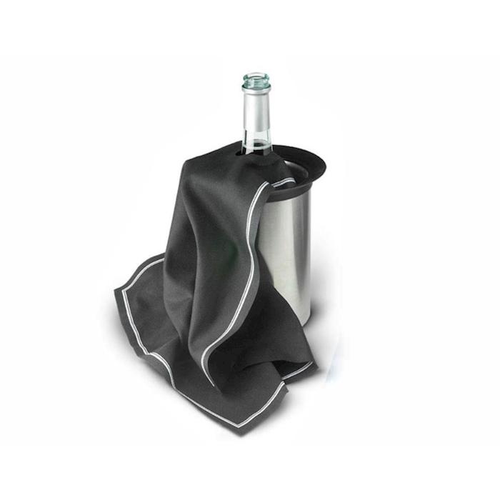 Tovaglioli bottiglia Cubidrap in cotone nero cm 40x40