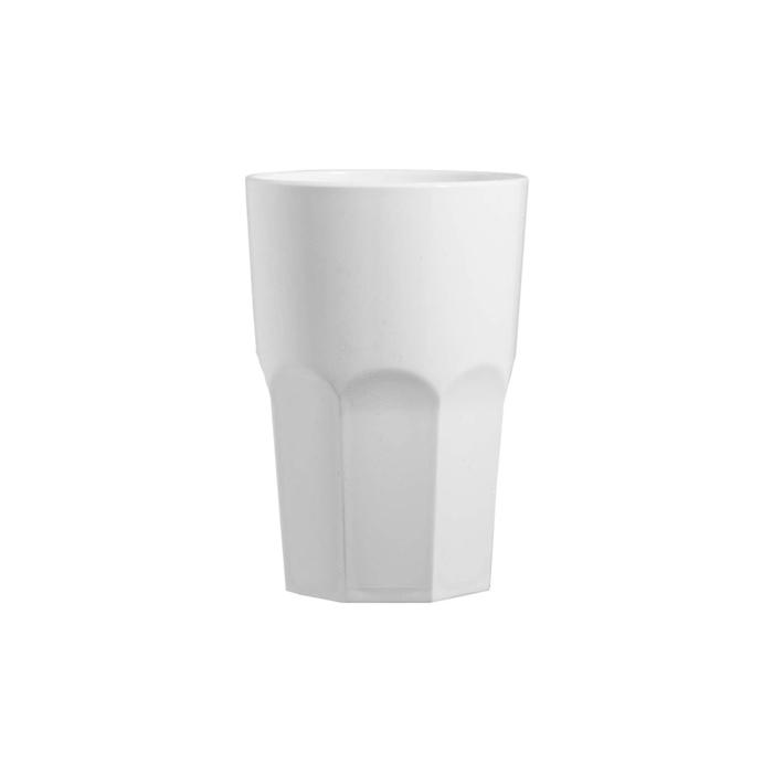 Bicchiere Octagonal in polipropilene bianco cl 35