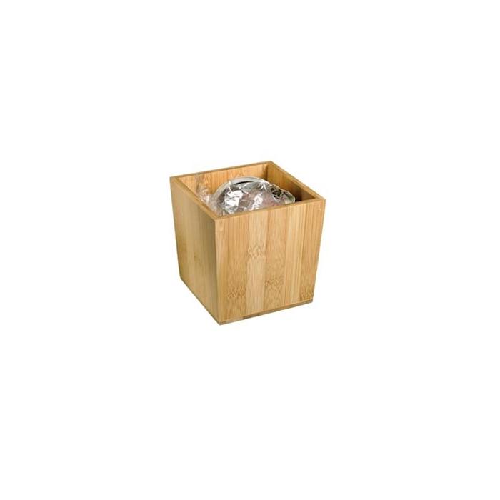 Porta rifiuti da tavolo in bamboo cm 11x10x11