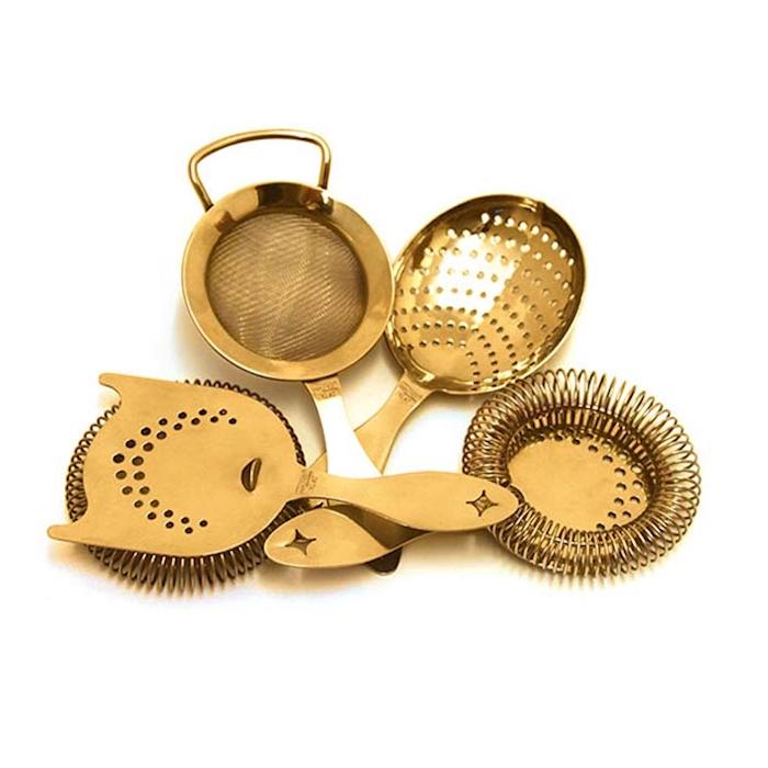 Set 4 strainer Heritage in acciaio inox Gold