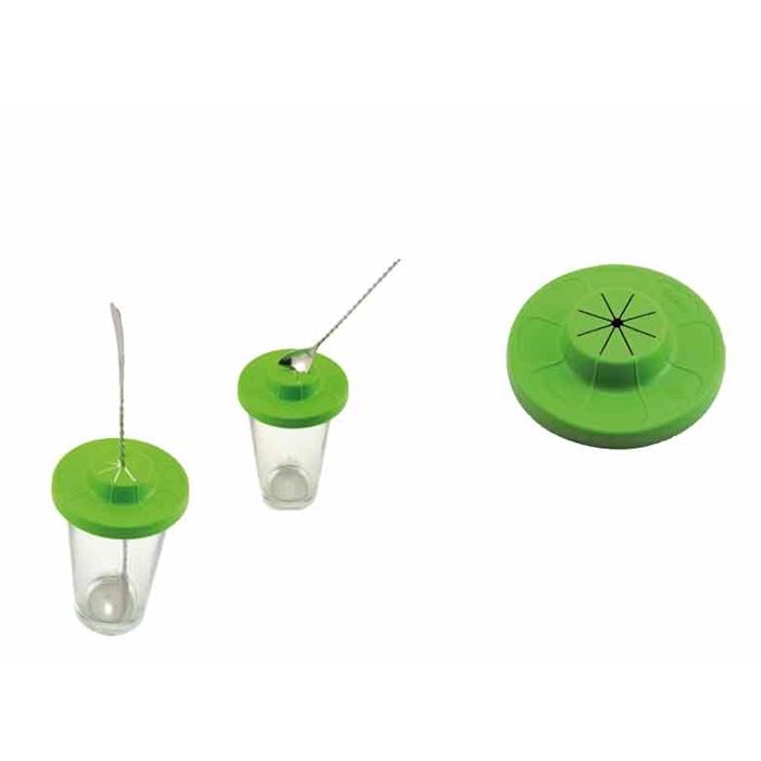 Coperchio per bicchieri Cup cover in polipropilene verde cm 10,5