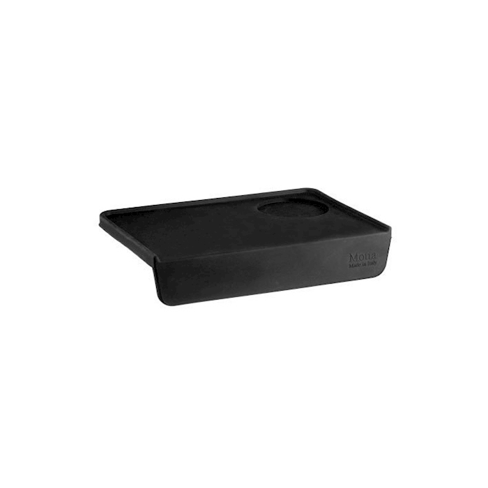 Tappetino appoggia filtro in gomma nera cm 24