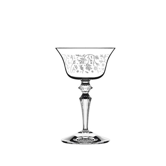 Calice Presidente Wormwood con decoro in vetro cl 13,5