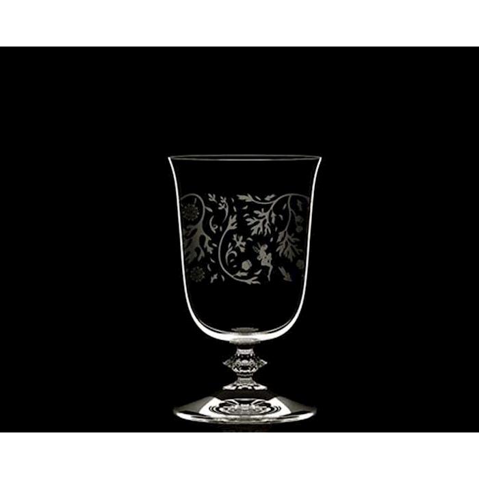 Bicchiere Rock Gobbler Wormwood con decoro in vetro cl 23