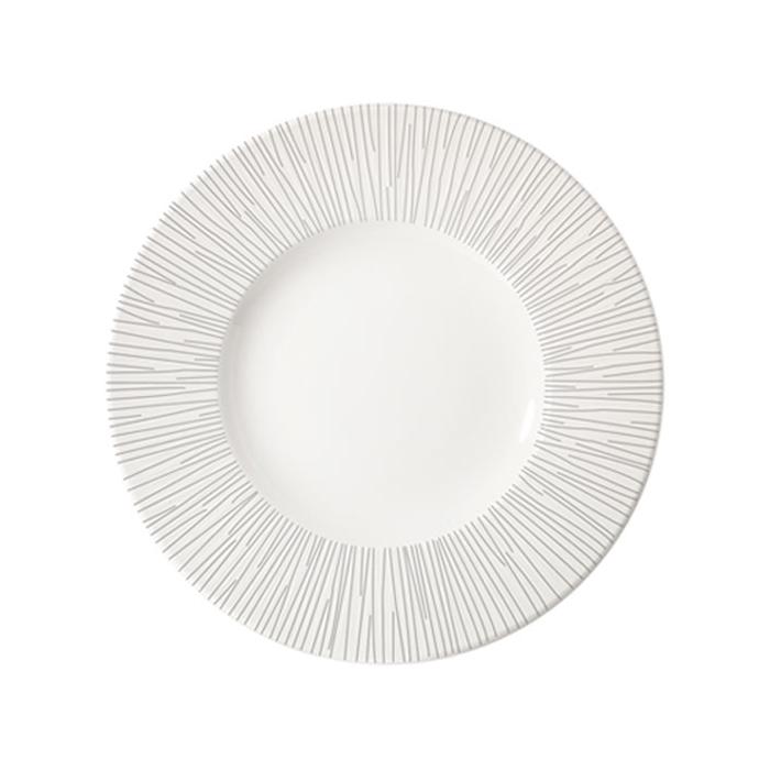 Piatto piano Bamboo Churchill in ceramica vetrificata bianca cm 30,5