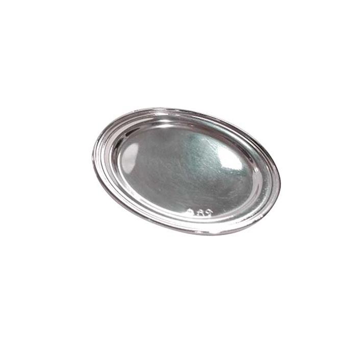 Sottobicchieri British Empire in acciaio inox placcato silver cm 11