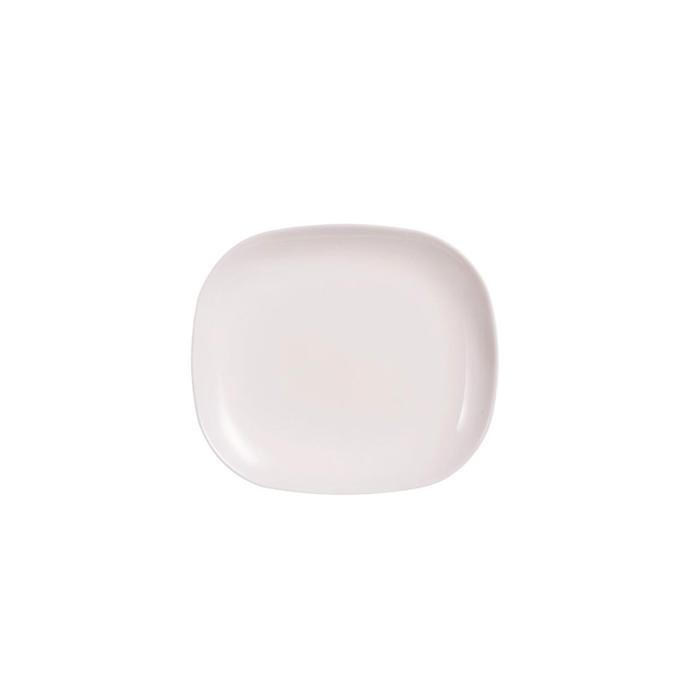 Piatto snack solutions in vetro opale cm 21,5x19