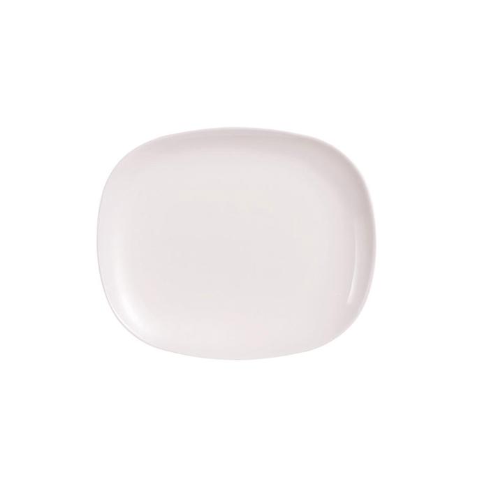 Piatto burger solutions in vetro opale cm 28x23