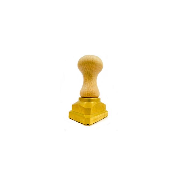 Stampo rettangolare ravioli e tortelli a molla in ottone cm 4,5x5,5