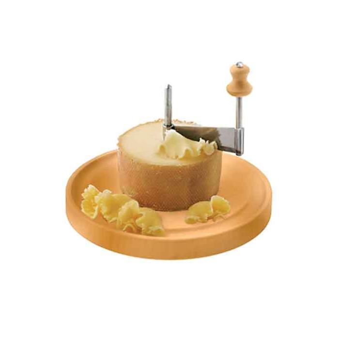 Taglia formaggio Girolle in legno e acciaio cm 22