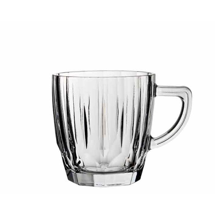 Bicchiere latte Diamond in vetro cl 25