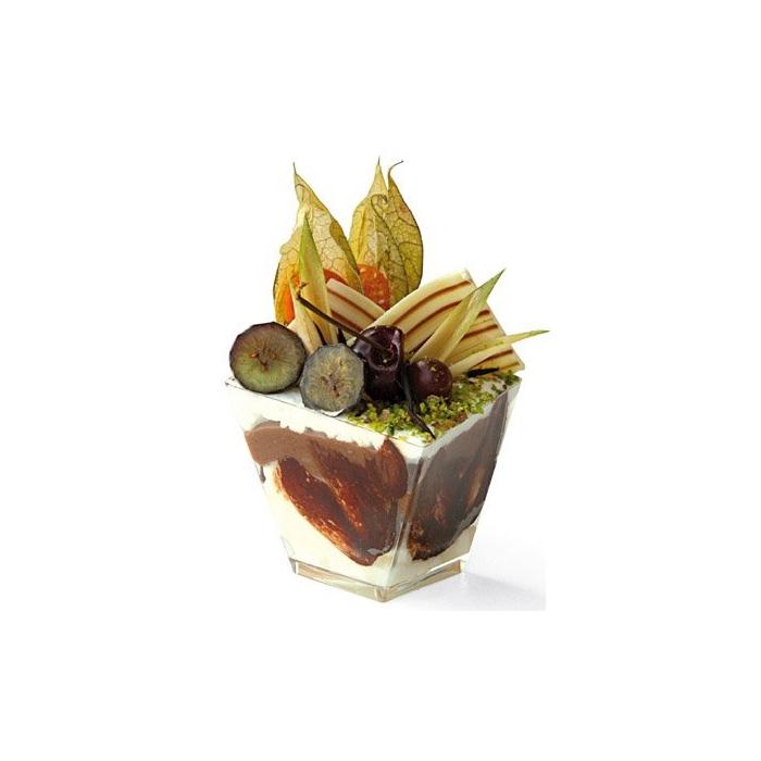 Coppetta rombo finger food Gold Plast in polistirene trasparente cl 9