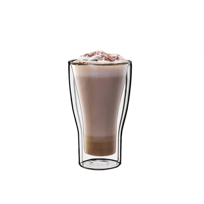 Bicchiere Latte Macchiato termico Luigi Bormioli in vetro cl 34