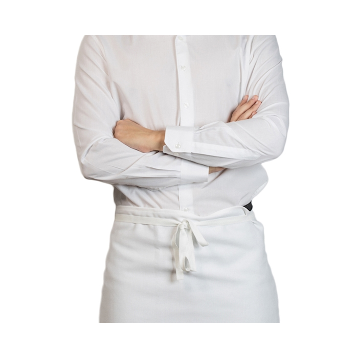 Grembiule Maxi in cotone bianco cm 95x90