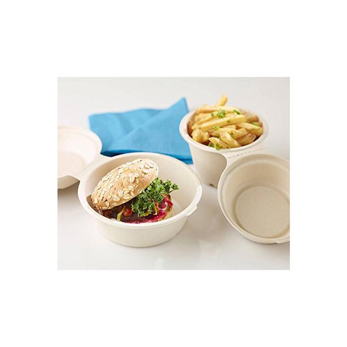 Coppetta soupe Duni con coperchio in cellulosa marrone cl 57,5