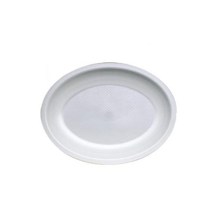 Piatto ovale Round Gold Plast in polipropilene cm 25,5