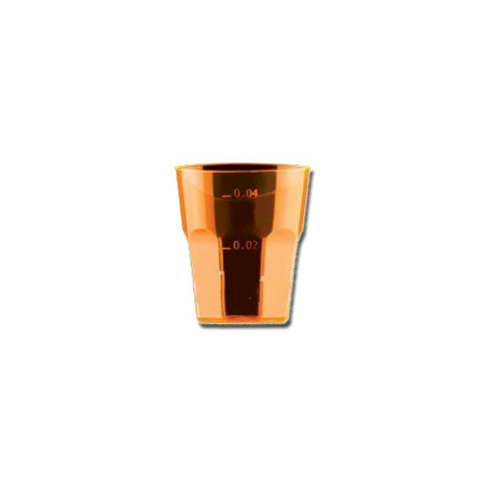 Bicchiere Disco Cocktail Gold Plast in polistirolo arancio cl 5