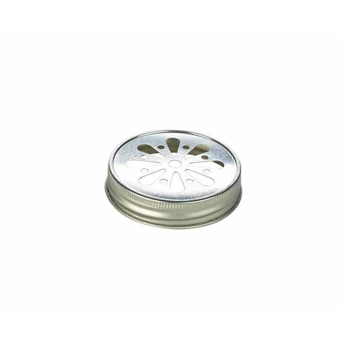 Coperchio per bicchieri barattolo in alluminio con decoro