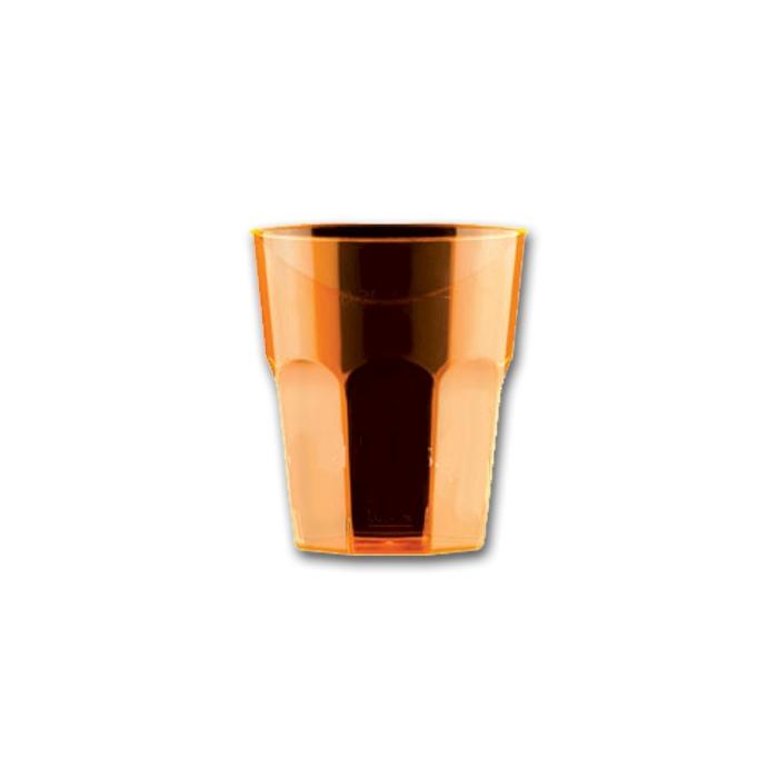Bicchiere Disco Cocktail Gold Plast in polistirolo arancio cl 27